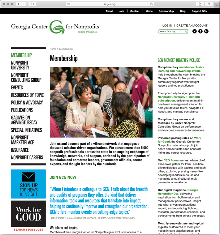 Georgia Center for Nonprofits website
