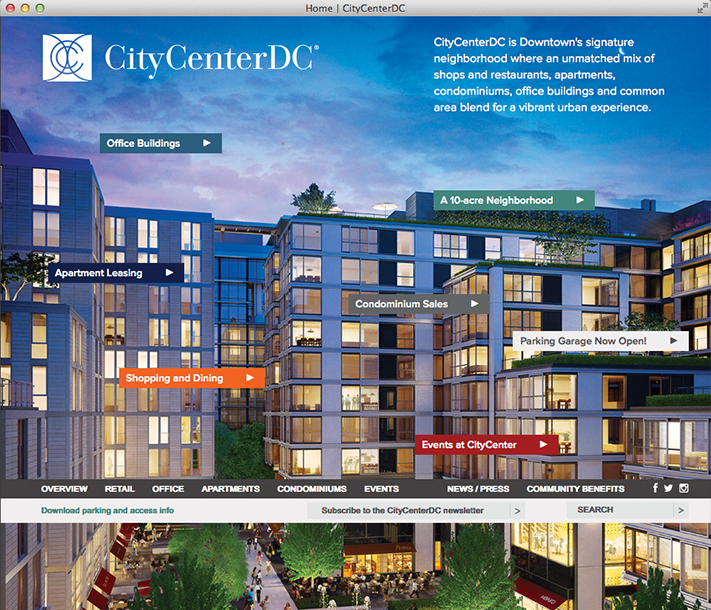 Hines CityCenterDC website