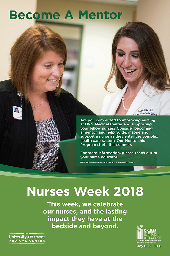 University of Vermont Medical Center Nurses Week poster
