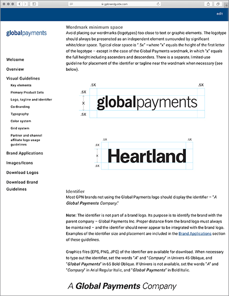 Global Payments Brandguide minimum space