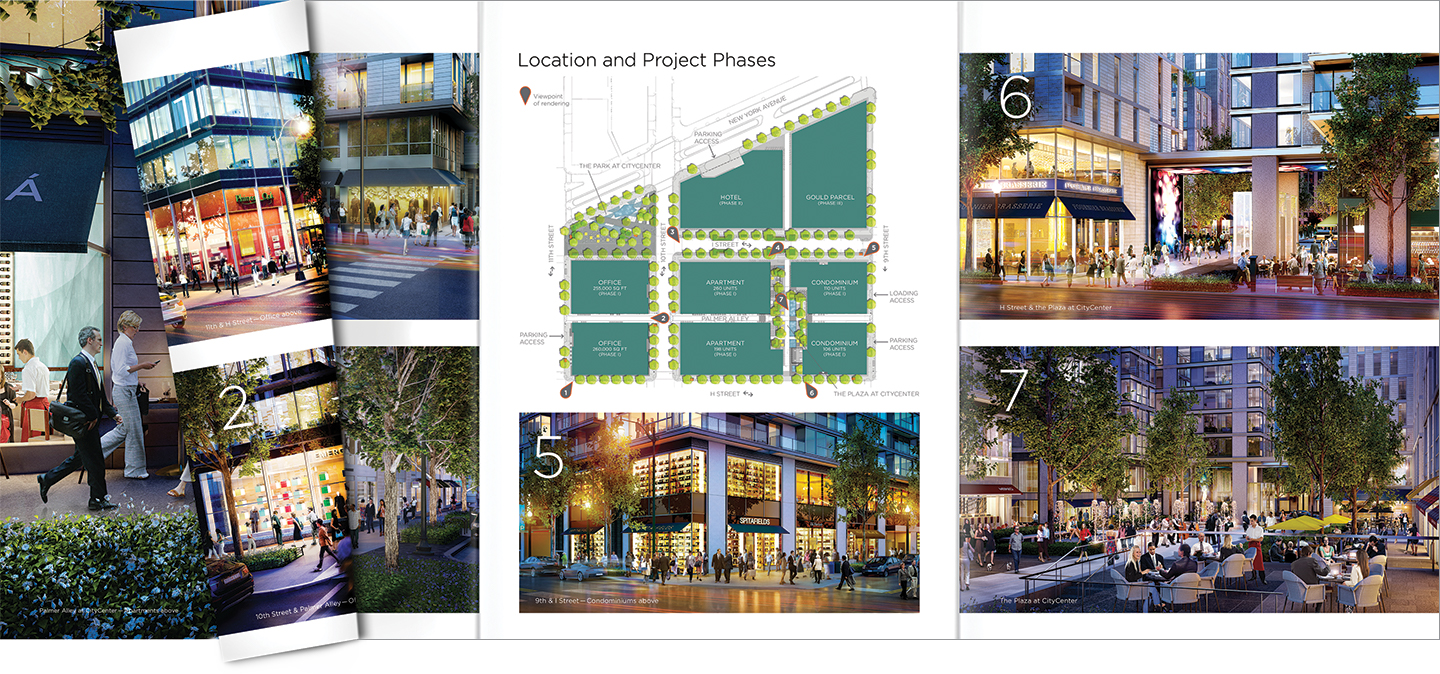 Hines City Center DC brochure spread