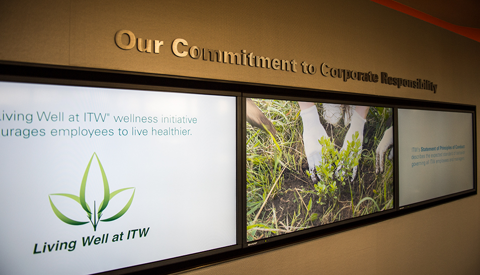 ITW corporate responsibility wall graphics