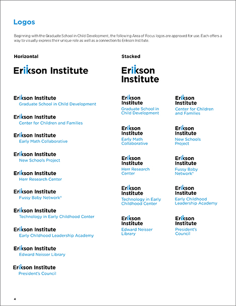 Erikson Institute brand guidelines